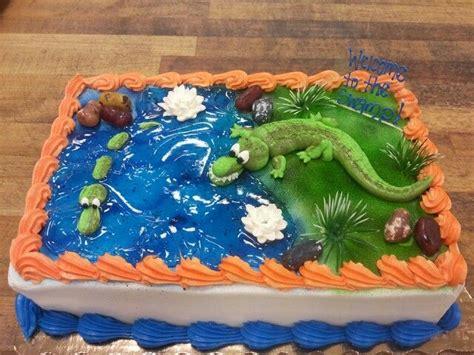 florida gator swamp themed cake  cakes pinterest cake