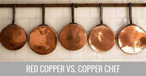 copper chef  red copper pan