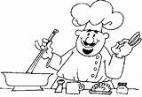 Chef Coloring sketch template