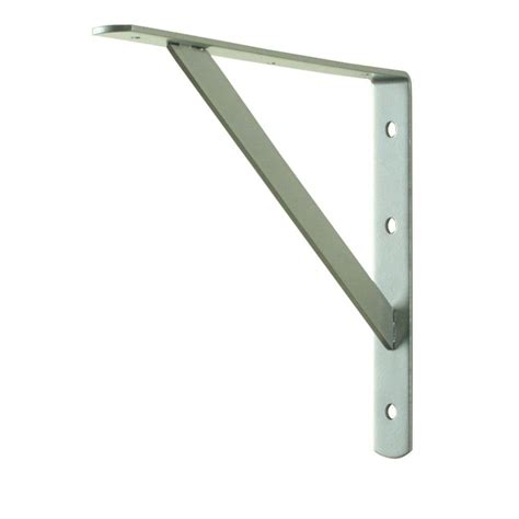 home depot shelf brackets everbilt 12 in x 8 in satin nickel heavy duty shelf