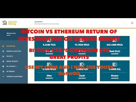bitcoin mining roi calculator bitcoin vs ethereum roi genesis mining great profits use