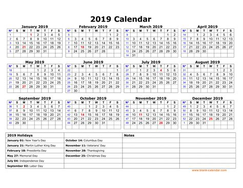 printable calendar federal holidays