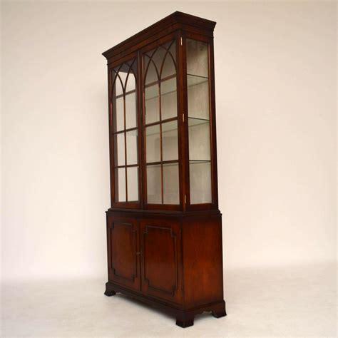 mahogany display cabinet large antique mahogany display cabinet marylebone 3954