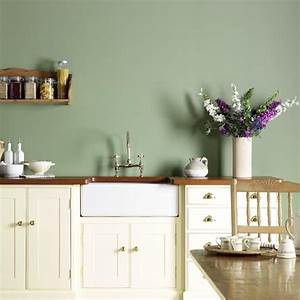 25 best ideas about green kitchen walls on pinterest for Kitchen colors with white cabinets with custom wall art decals