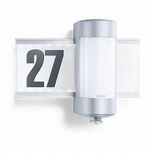 Außenlampe Mit Sensor : steinel hausnummern sensorleuchte l 270 s aluminium 647810 ~ Frokenaadalensverden.com Haus und Dekorationen