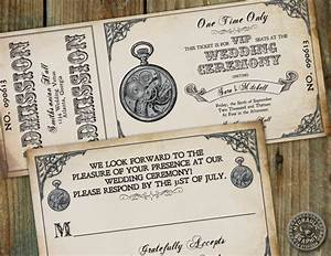 steampunk ticket invitation steampunk party pinterest With free printable steampunk wedding invitations