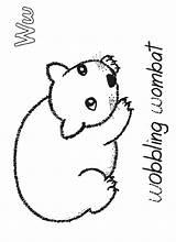 Wombat Coloring Preschool Activities Stew Crafts Animals Printable Australia Craft Animal Sheet Google Starting sketch template