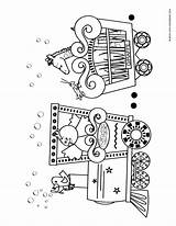 Circus Coloring Train Printable Crafts Preschool Printables Birthday Carnival Template Vbs Craft Trains Theme Planes Animal Cars Automobiles Blank Paper sketch template