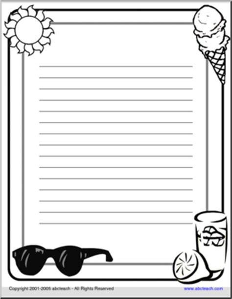 border paper summer lines abcteach