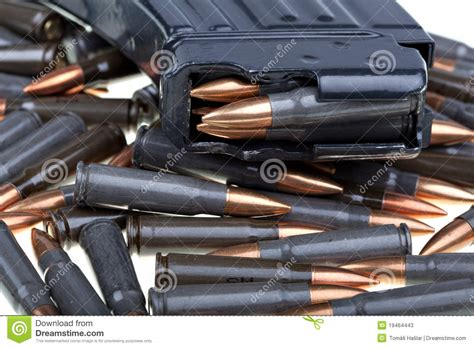 Ak 47 Ammo With Mag Stock Image. Image Of Rifle, Jacket