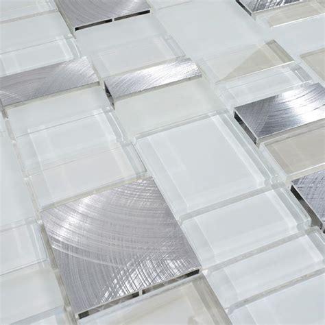 backsplash kitchen glass tile metal glass tile bathroom wall backsplash stainless steel