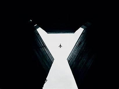 Sky Plane Building Gap Walls Dark Symmetry