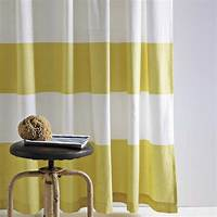 striped shower curtains Zig Zags, Chevron, Stripes and Ikat {Tired, Trendy or Timeless} - The Inspired Room