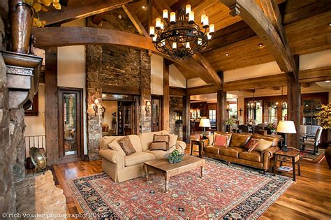 silverthorne residence rustic living room
