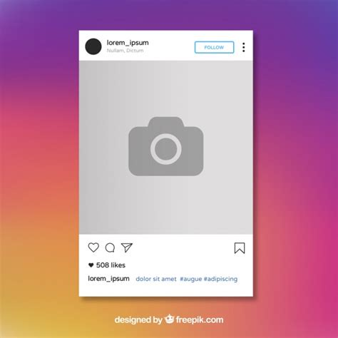 instagram post template vector