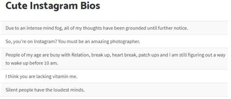 list  funny instagram bios status ideas whitedust