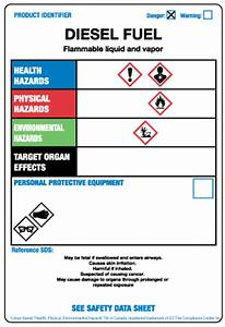 oil gas stock labels ghs workplace labels green With diesel fuel msds