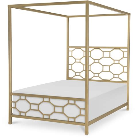 37037 gold canopy bed uptown white and gold metal canopy bed from racheal