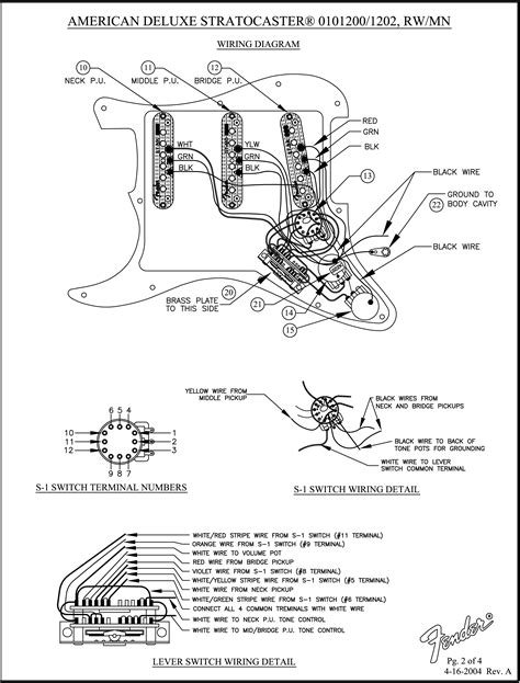 fender american deluxe stratocaster 2009 wiring diagram