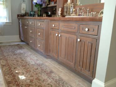 Pickled Oak Cabinets Before And After by Specialty Cabinet Finishes Portfolio Kitchen Cabinet