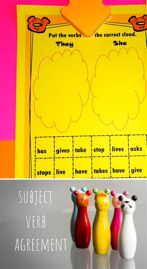 subject verb agreement worksheets  images