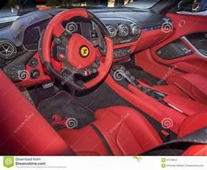 Ferrari Dashboard Interior Editorial Stock Image - Image ...