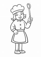Coloring Chef Sheets Sheet Profession Kleurplaten Cartoon Koks Chefs Dibujo Colorear Coloriage Activity Voeding Popular Coloringpagesfortoddlers Printable Kunjungi Mewarnai Kinder sketch template