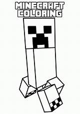 Coloring Minecraft Pages Printable Cool Popular sketch template