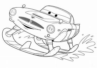 Coloring Cars Finn Printable Skiing Missile Mcmissile