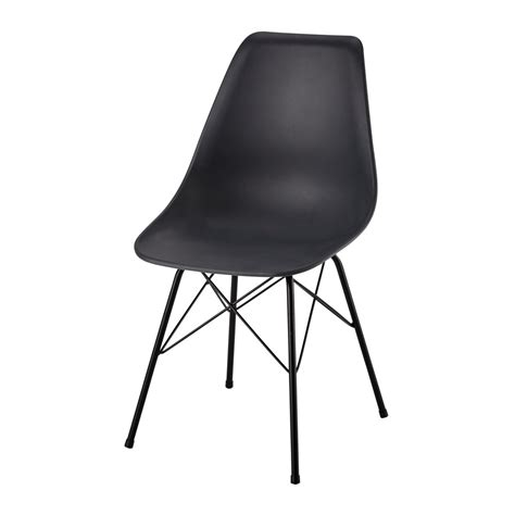 polypropylene and metal chair in charcoal grey cardiff