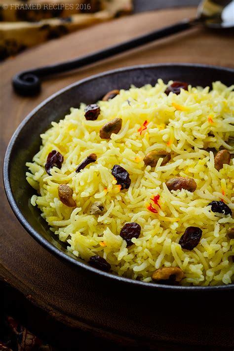 Saffron Rice Recipe - Framed Recipes