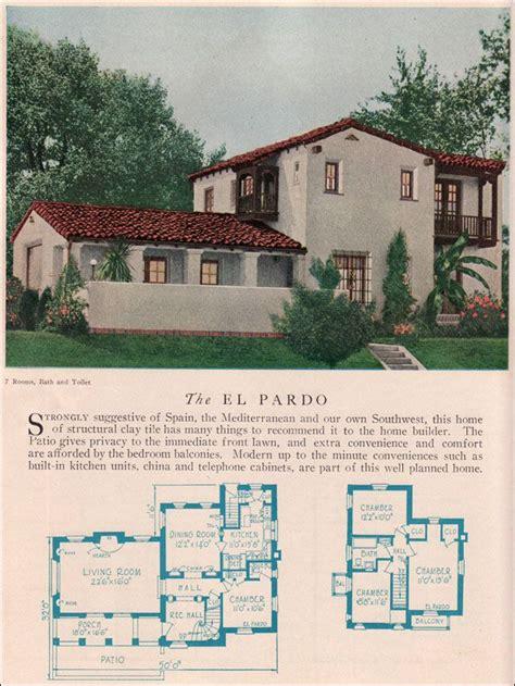 antique spanish house plans the el pardo 1929 home builders catalog the el pardo is a monterey style revival that