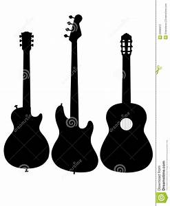Guitar Acoustic Electric Outline Silhouette Stock ...