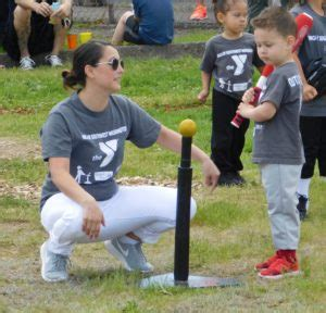 preschool t ages 3 4 amp coach pitch ages 5 6 ymca of 305 | TBall coach and child cropped 300x288
