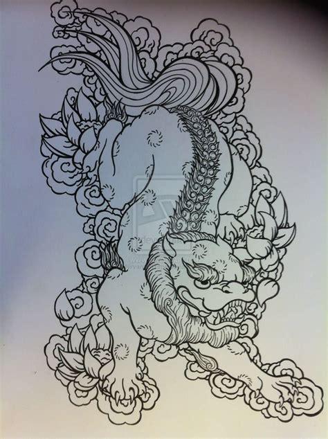 japanese lion tattoo design  nirvanaoftime