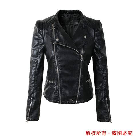 ladies motorcycle clothing free shipping women leather jacket spring 2015 autumn slim
