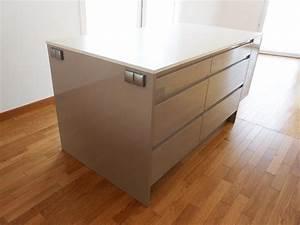 Tiroir De Cuisine : ilot central de cuisine tiroirs cuisishop photo n 56 ~ Teatrodelosmanantiales.com Idées de Décoration