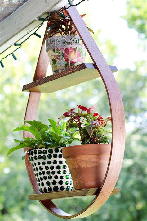 diy wooden plant holder wooden  desk project plans