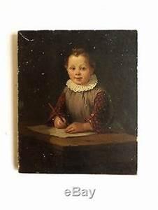 Tableau Enfant Bois : ancien tableau huile sur bois joli portrait d 39 enfant sign e voir photos ~ Teatrodelosmanantiales.com Idées de Décoration
