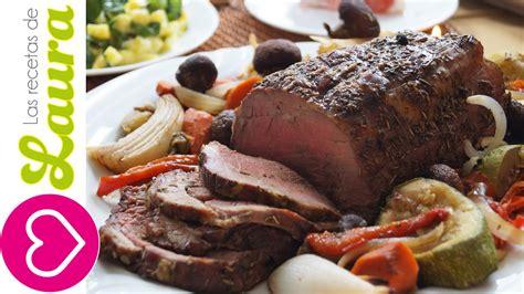 como hacer carne al horno facil  jugosa comida