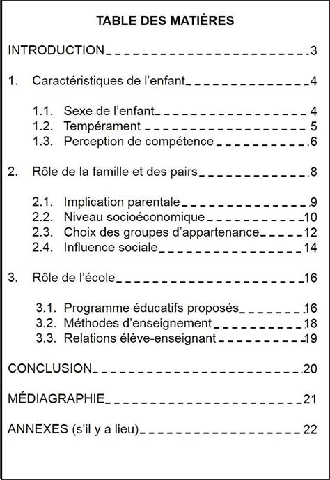 La table des matières - GuideMethodologie