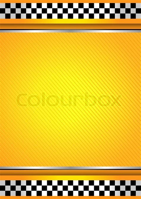 racing background taxi cab template stock vector