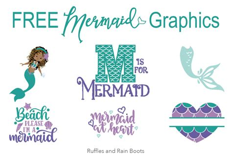 Archive of freely downloadable fonts. Free Mermaid SVG Files, Fonts, and Graphics for Crafts and ...