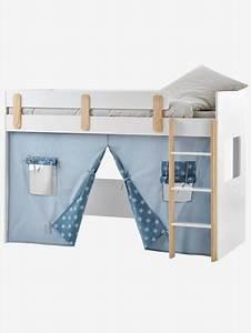 Lit Mezzanine Mi Hauteur : tente pour lit mezzanine mi hauteur ligne everest bleu ~ Melissatoandfro.com Idées de Décoration