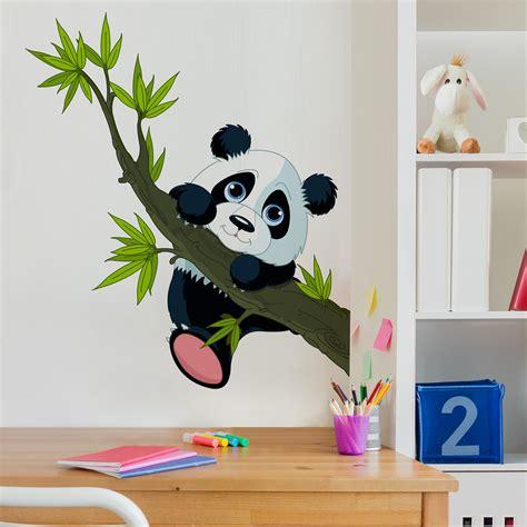 Wandtattoo Kinderzimmer Tiere Ebay by Wandtattoo Kinderzimmer Kletternder Panda Tiere Baby