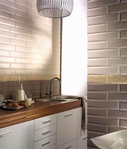 Faience Metro Blanc : carrelage sol et mur metro tube moka brillo cm ~ Farleysfitness.com Idées de Décoration