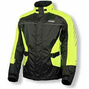 Amazon Olympia Moto Sports Horizon Rain Jacket Black