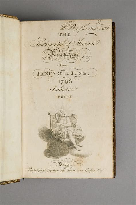 sentimental  masonic magazine vol ii george