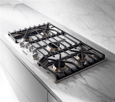 gas cooktop cooktops 36 inch kitchen electric burner suite signature grates control iron
