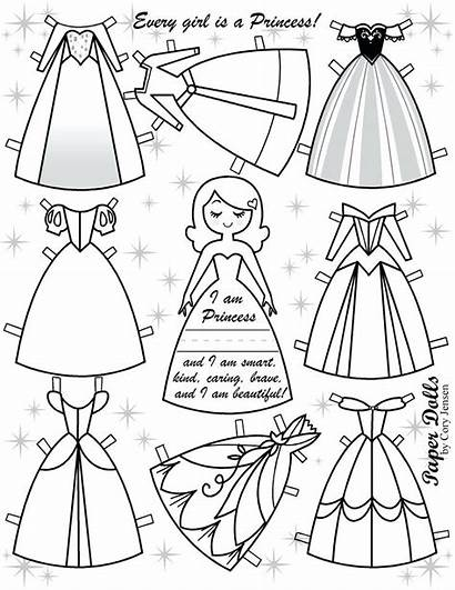 Doll Paper Template Clothes Coloring Pages